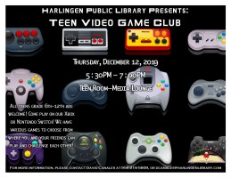 Video Game Day @ Harlingen Public Library- Teen Room