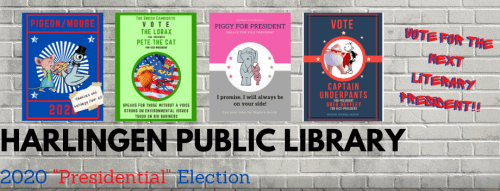 Book Character Election @ Harlingen Public Library Website