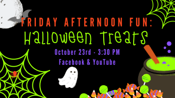 Friday Afternoon Fun: Halloween Treats @ Harlingen Public Library Facebook Page