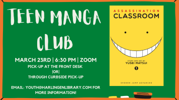 Manga Club @ Harlingen Public Library- Zoom