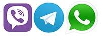 Contact us using Whatsapp Viber or Telegram