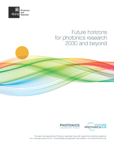 Future Horizons for Photonics Reserach Cover