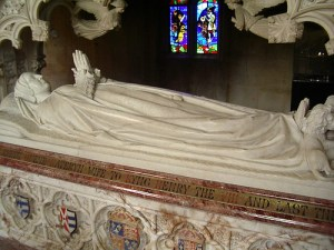 Catherine Parr's tomb at the chapel at Sudeley