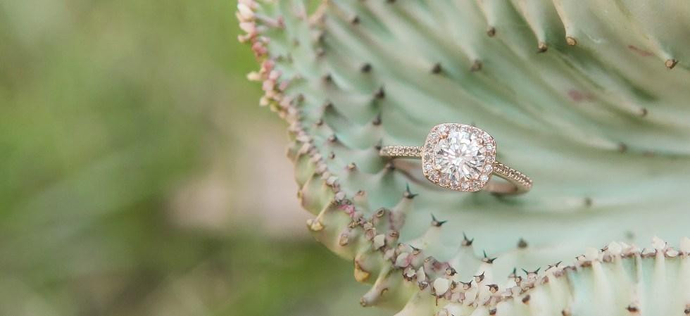 Wedding Ring in Succulent