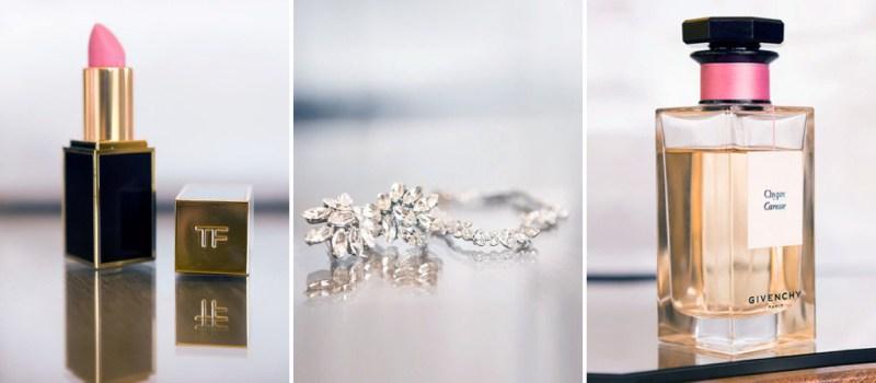 Bride's Perfume, Lipstick and Jewelry