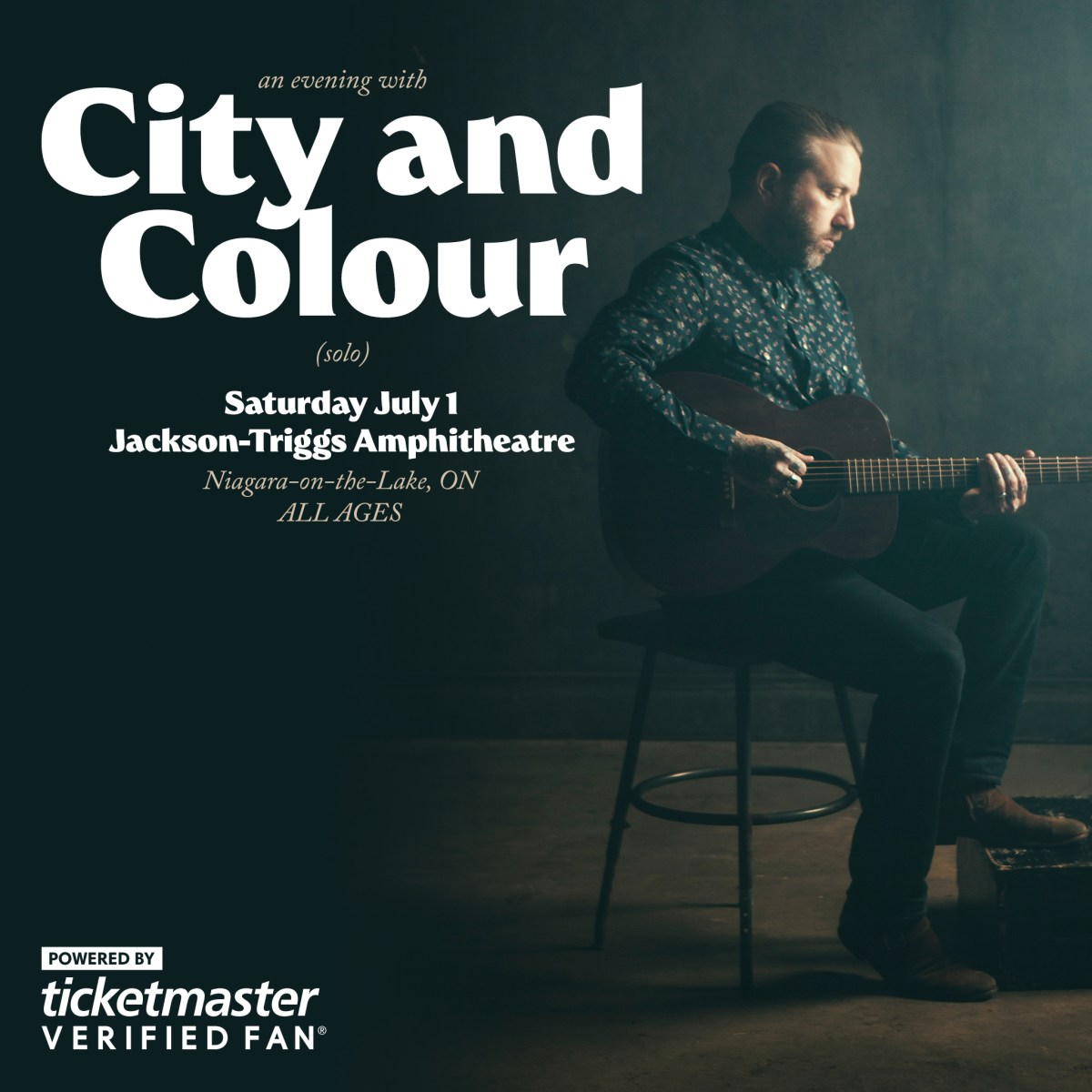 City And Colour Announce Exclusive Ontario Solo Performance For Canada Day, July 1, 2017