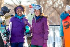 "A relationship writer at a women's magazine has recently sworn off dating and joins her best girlfriend for a snowboarding weekend. A reservation snafu forces them to share a chalet with a couple of guys they've never met, one of whom is a company CEO who is also lying low on the dating front. However, once he and she get to know one another better, they begin to wonder if perhaps they should rethink their whole ""non-dating"" status, until each finds out what the other does for a living, and he bolts. Photo: Rukiya Bernard, Taylor Cole Credit: Copyright 2017 Crown Media United States LLC/Photographer: Steven Ackerman"