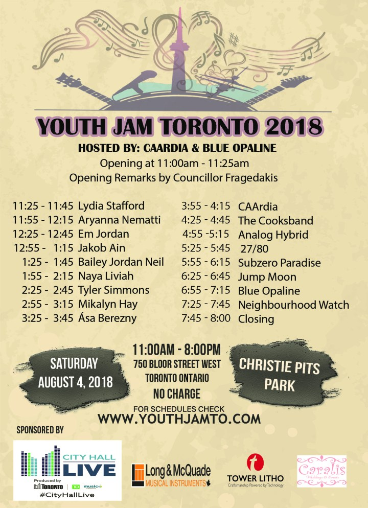Youth Jam Toronto 2018 Schedules Final