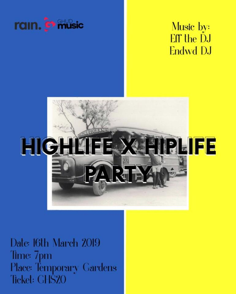 Harmattan Rain x Ghud Music presents A Highlife and Hiplife Party