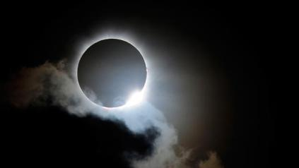 A rare total solar eclipse, as seen in Northern Australia on Wednesday 5/12/2012.