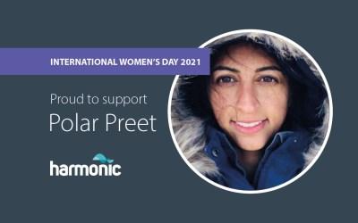 Harmonic sponsors Polar Preet in her 2021 South Pole solo trek