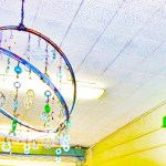 Image: custom chandelier made from bike parts.