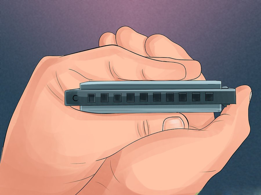 How to hold Harmonica - Holding Your Harmonica step 5
