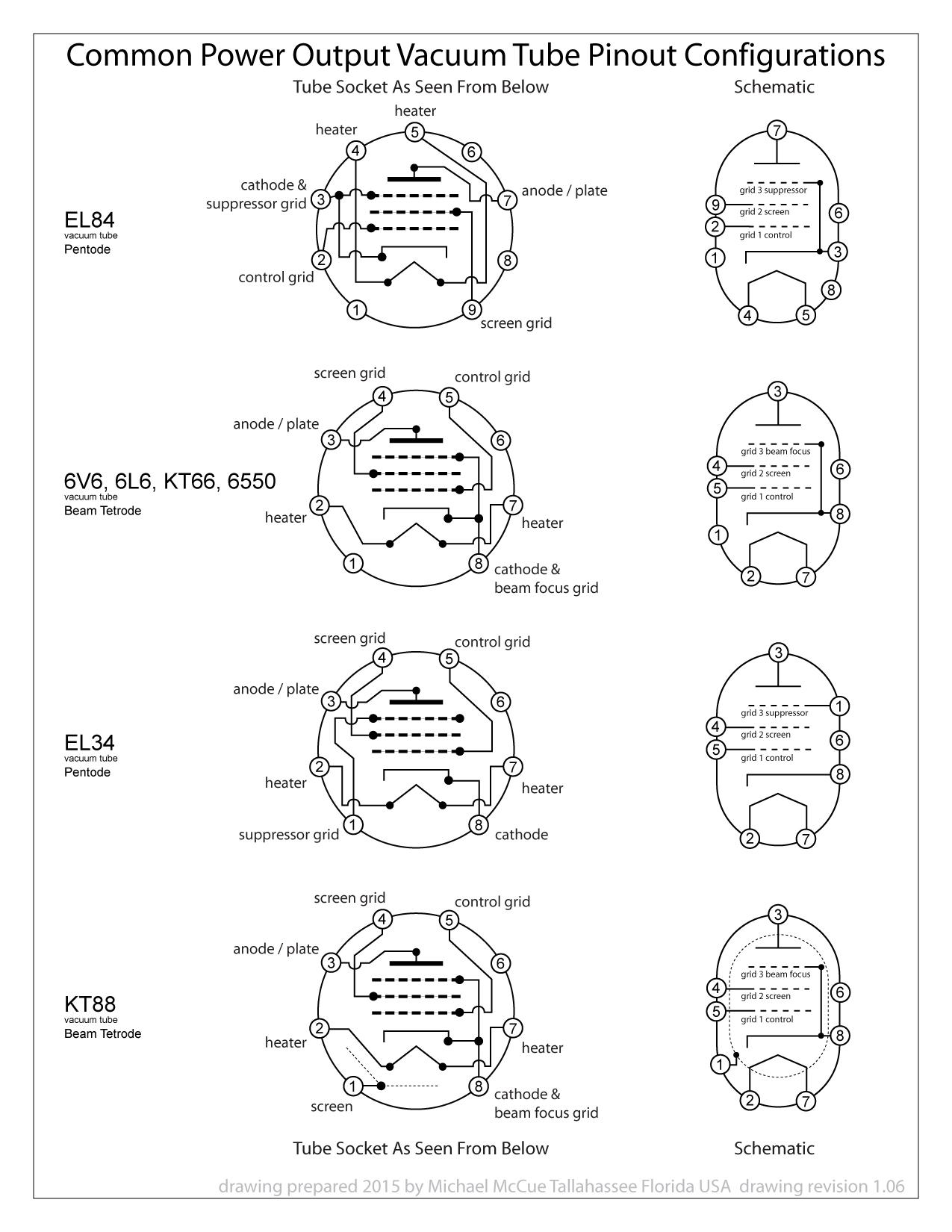 hight resolution of vacuum tube socket wiring
