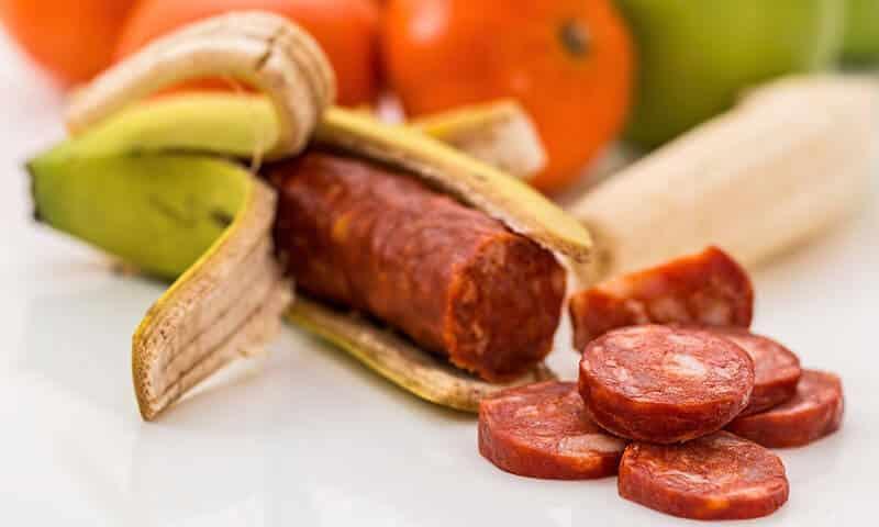 banane chorizo coupé