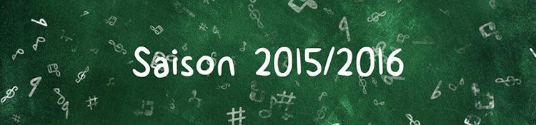 École de Musique — Saison 2015/2016