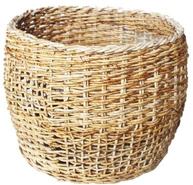 HOB2048 M Banana round basket in nat