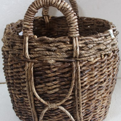 HOB2177 Banana round basket with accent X
