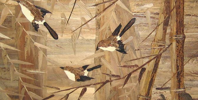 Painting Made From Banana Stems, source : Dictio.id