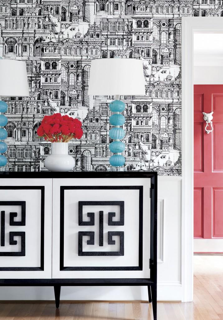 Black And White Thibaut Wallpaper