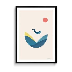 Affiche la baleine bleue quimper brest