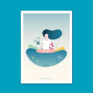 Tirage d'art - Illustration Yoga A4
