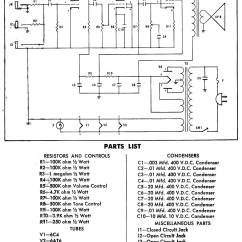 Guitar Amp Wiring Diagram 1988 Toyota Pickup Radio Harmony Amplifier Schematic Get Free Image About