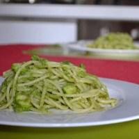 Spaghetti with Creamy Zucchini & Mint Sauce