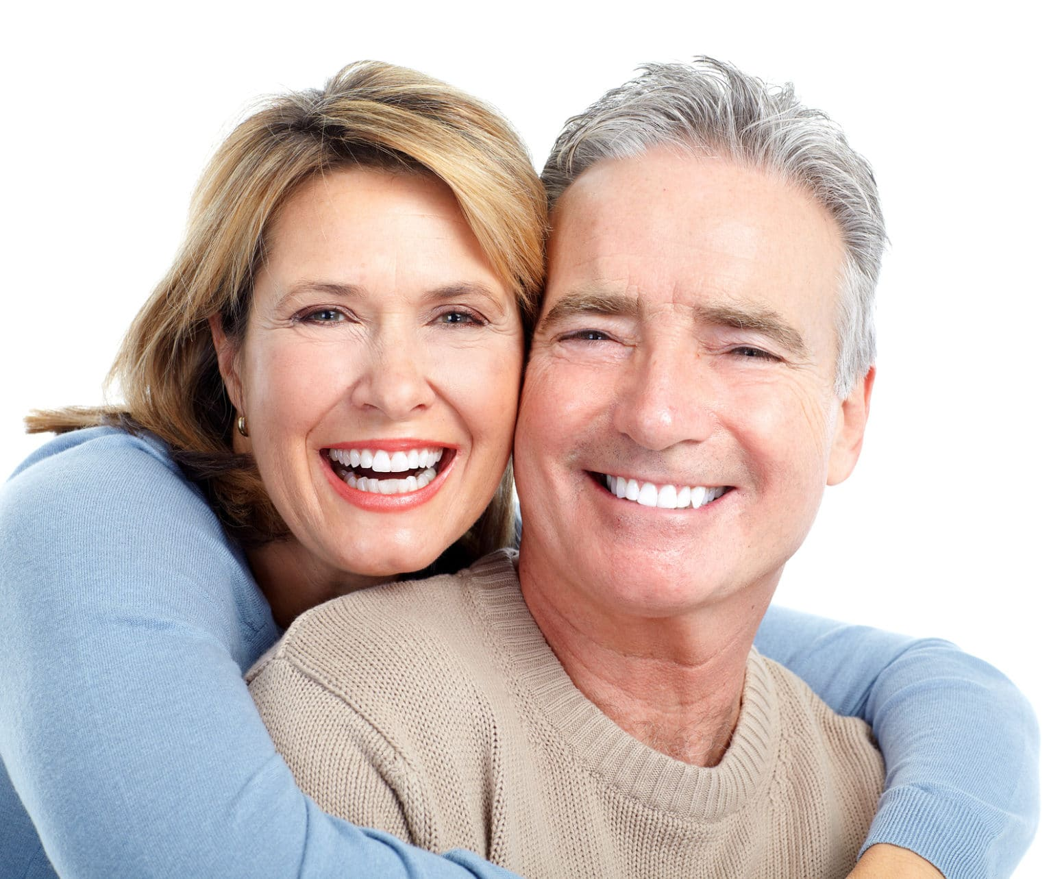senior smiling couple in