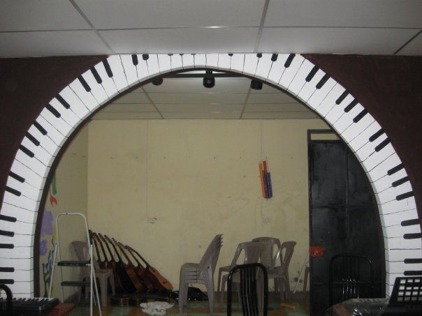 The Musical Arch to the Key Board Area
