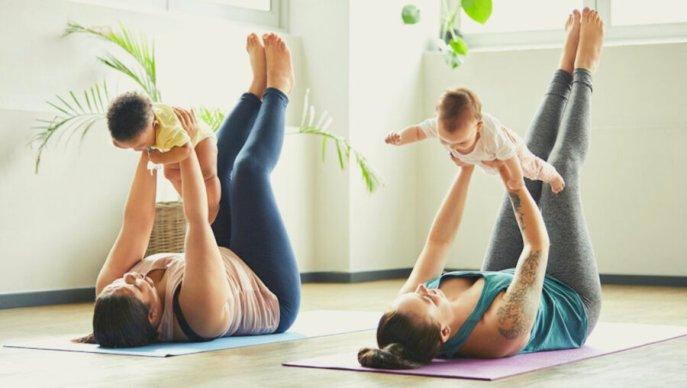 Mum and baby yoga class in dartford