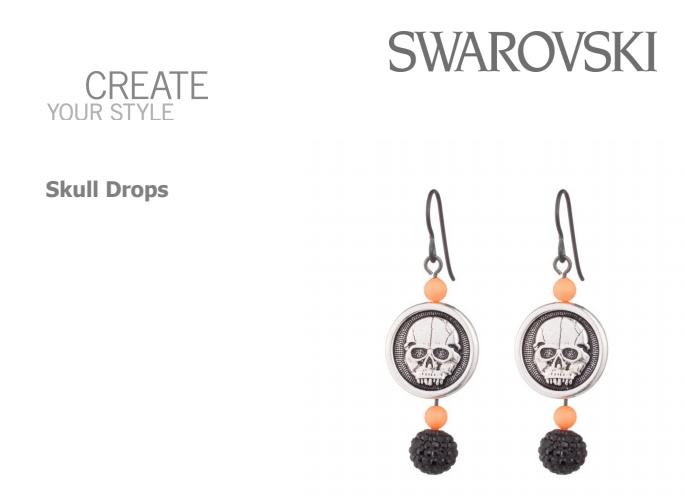 DIY Halloween Inspired Swarovski Crystal Jewelry Designs
