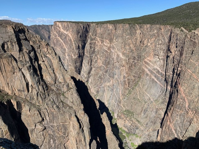 A view of Black Canyon from the Painted Wall looking to the west.