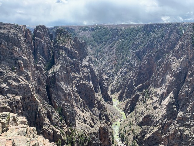 Black Canyon of the Gunnison looking East from atop the Painted Wall.