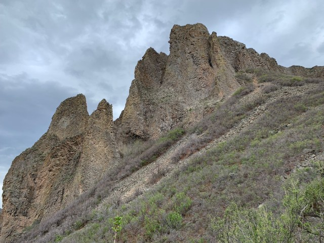 The backside of Needle Rock in Crawford, CO.