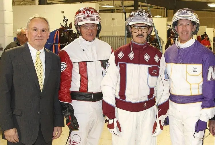 Loewe (left) with Hall of Fame drivers Dave Palone, John Campbell and David Miller | Brad Conrad