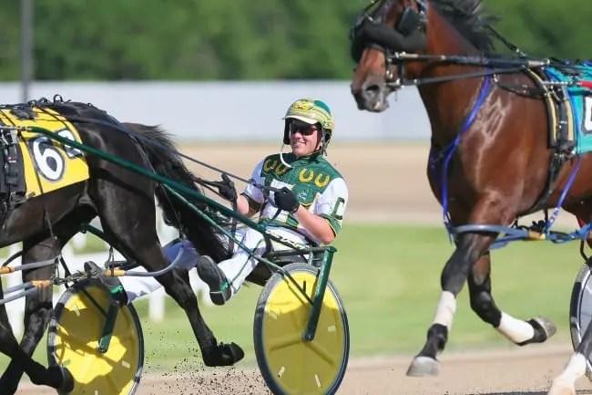John De Long is loving life as a top driver at Hoosier Park. | Dean Gillette