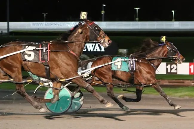 Dan Dube drove Keystone Velocity to a 1:51.2 victory in the $529,000 final of the 30th edition of the George Morton Levy at Yonkers | Mike Lizzi