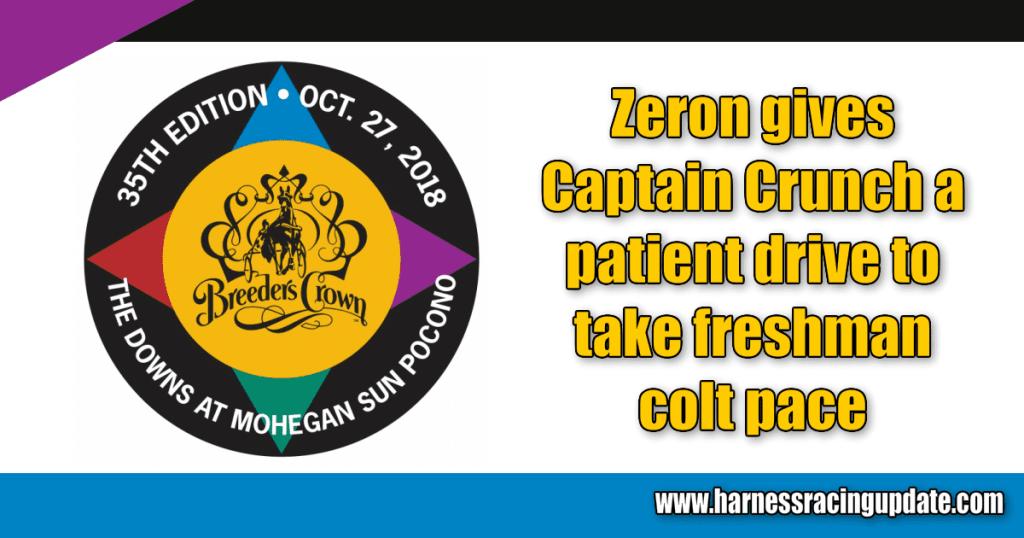 Zeron gives Captain Crunch a patient drive to take freshman colt pace