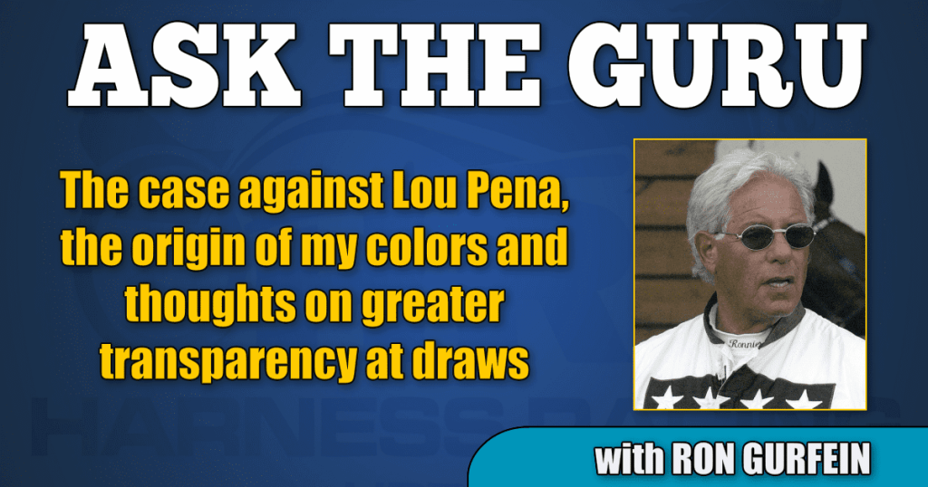The case against Lou Pena, the origin of my colors and thoughts on greater transparency at draws