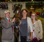 Triscari Video Web and Marketing | Concord Stud's David Meirs III, Robin Meirs and Julie Meirs with $500,000 session topper Fifty Cent Piece.