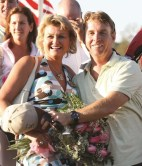 Claus Andersen   Jimmy said he owes it to Christina to spend more time with her. The couple is shown after winning the 2008 Jugette.