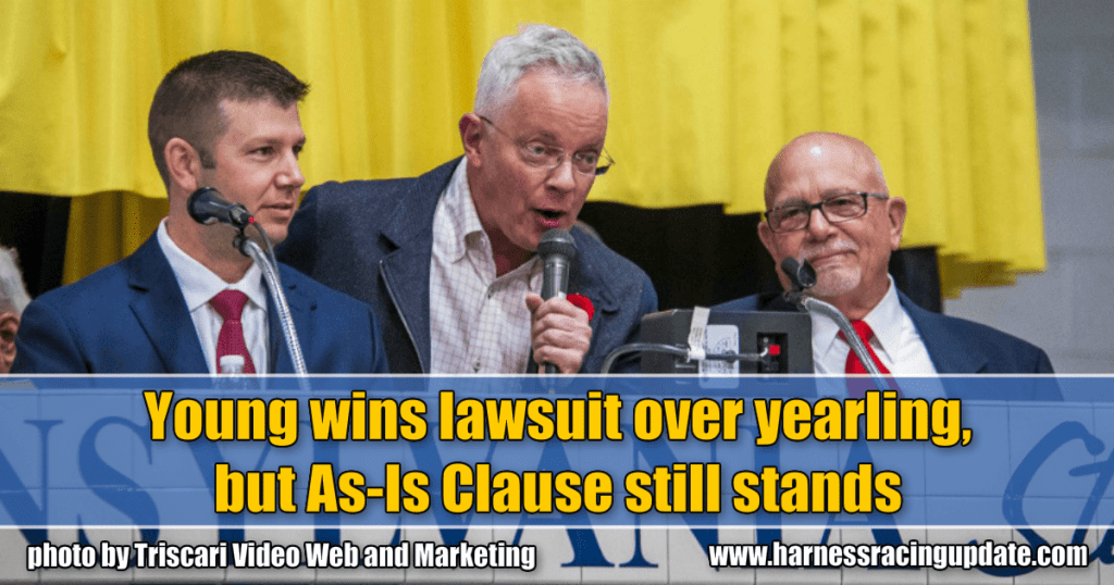 Young wins lawsuit over yearling, but As-Is Clause still stands