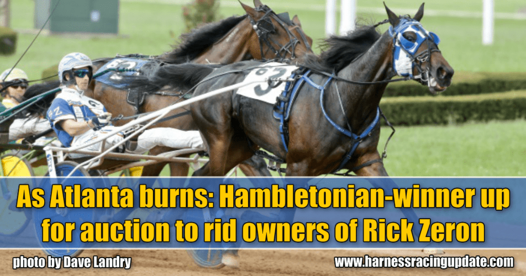 As Atlanta burns: Hambletonian-winner up for auction to rid owners of Rick Zeron