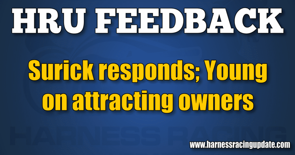 Surick responds; Young on attracting owners
