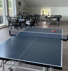 The ping-pong table in the employee lounge.