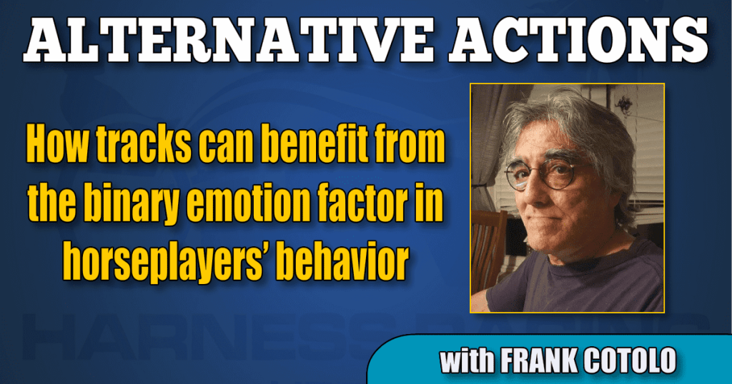 How tracks can benefit from the binary emotion factor in horseplayers' behavior