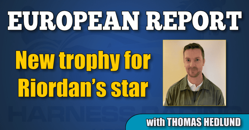 New trophy for Riordan's star