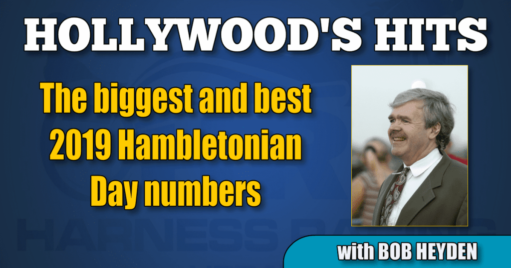 The biggest and best 2019 Hambletonian Day numbers