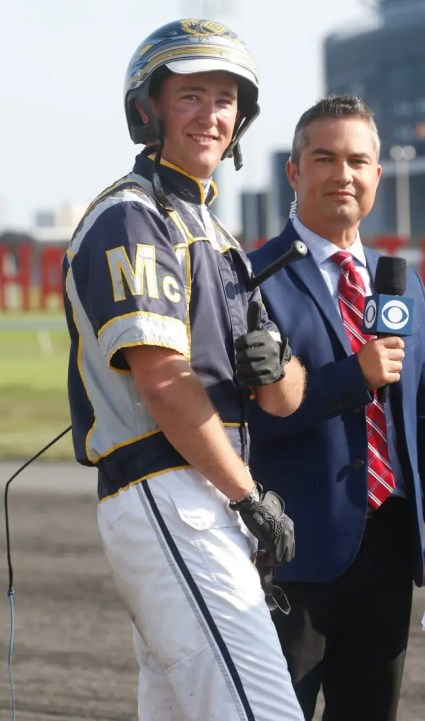 Dave Landry | Four months after suffering a broken pelvis in a qualifying accident, driver Bob McClure was being interviewed on national television for the CBS Sports Network by fellow Canadian Greg Blanchard after winning the Hambletonian.